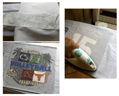 t-shirt quilt project step 4