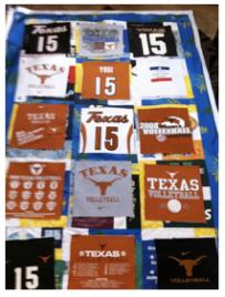 t-shirt quilt project step 6