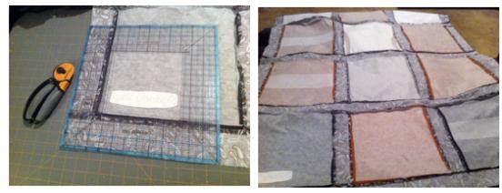 t-shirt quilt project step 8